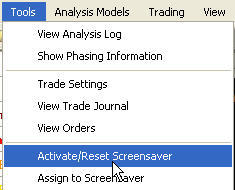 Reset the screensaver to have it start a new sequence of backtests